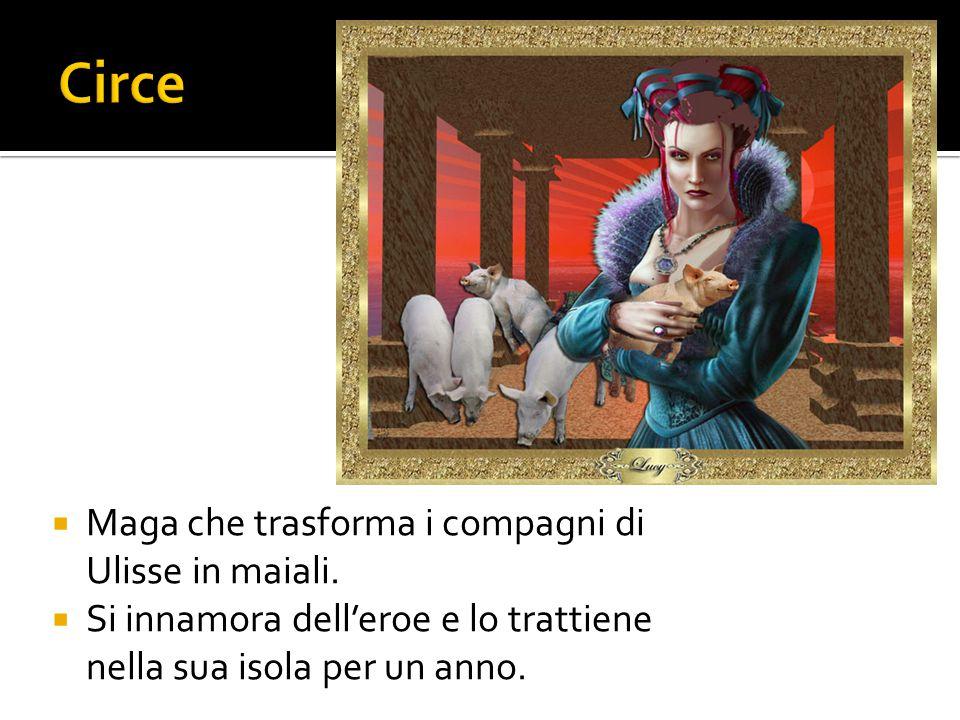 Circe Maga che trasforma i compagni di Ulisse in maiali.