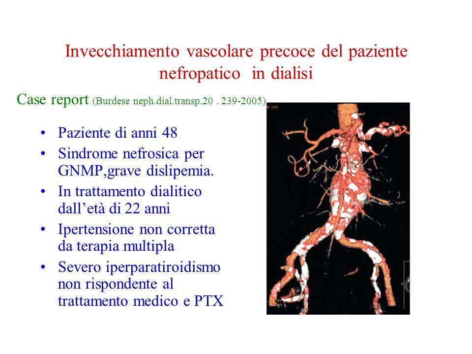 Invecchiamento vascolare precoce del paziente nefropatico in dialisi