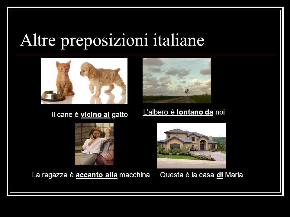 Altre preposizioni italiane
