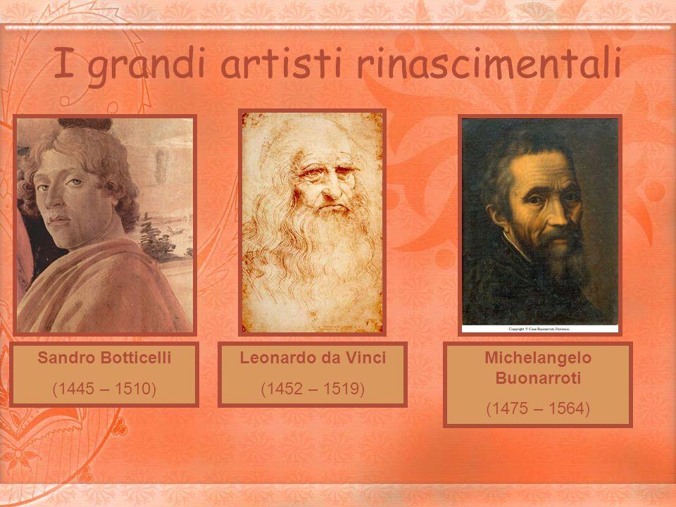 I grandi artisti rinascimentali