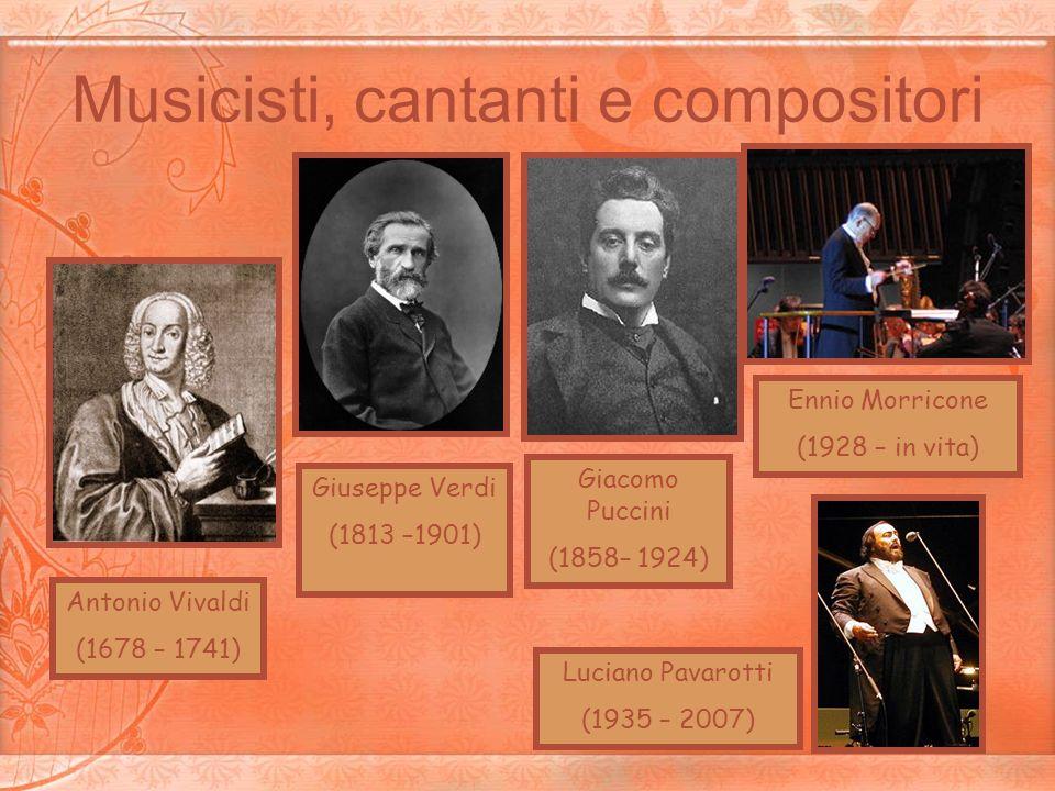 Musicisti, cantanti e compositori