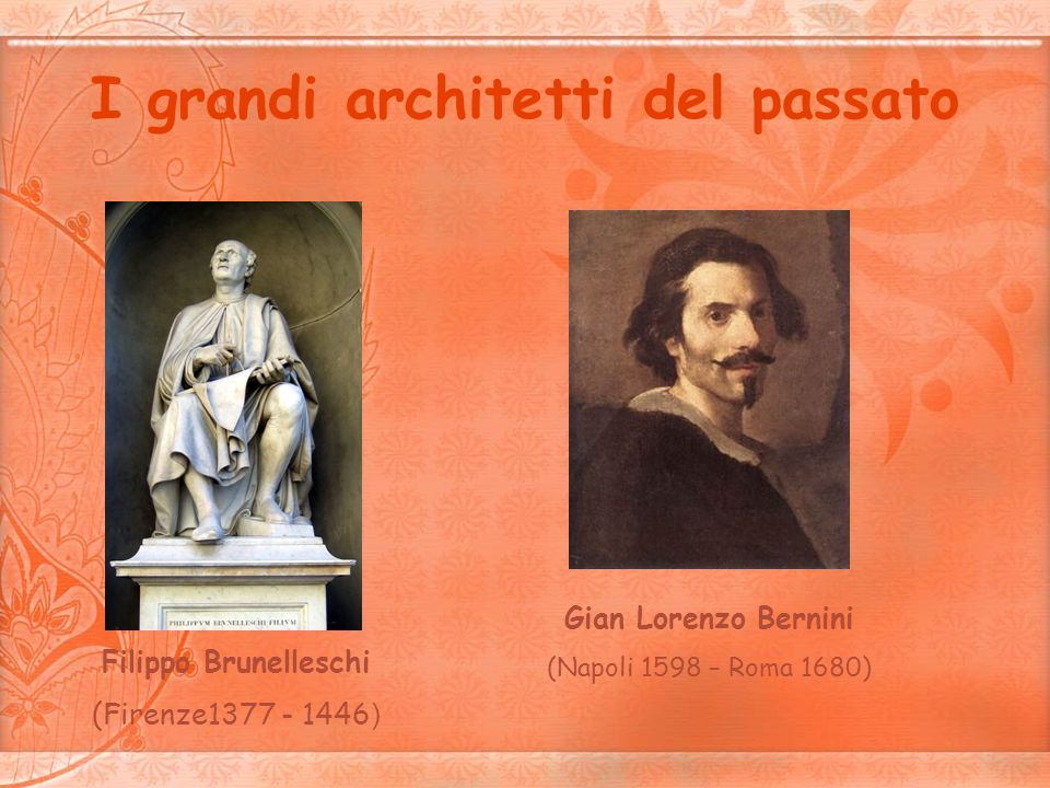 I grandi architetti del passato