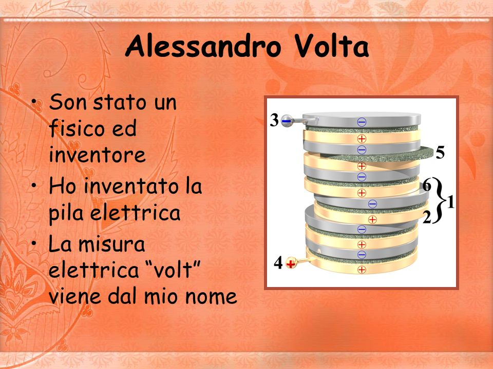 Alessandro Volta Son stato un fisico ed inventore