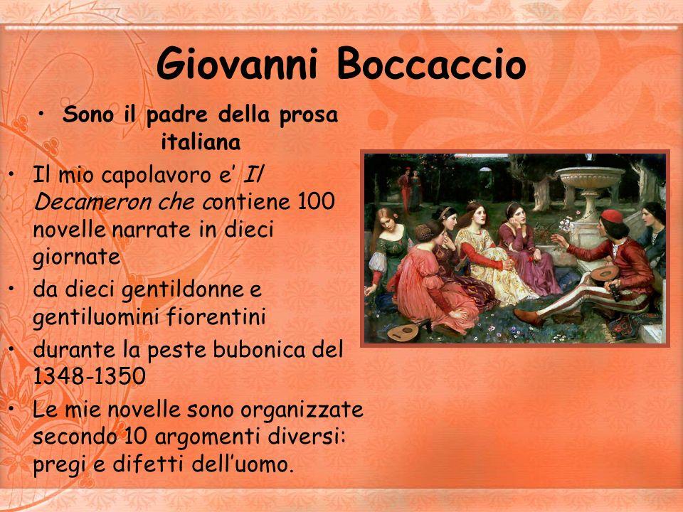 Sono il padre della prosa italiana
