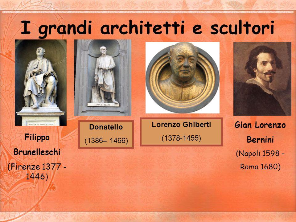 I grandi architetti e scultori