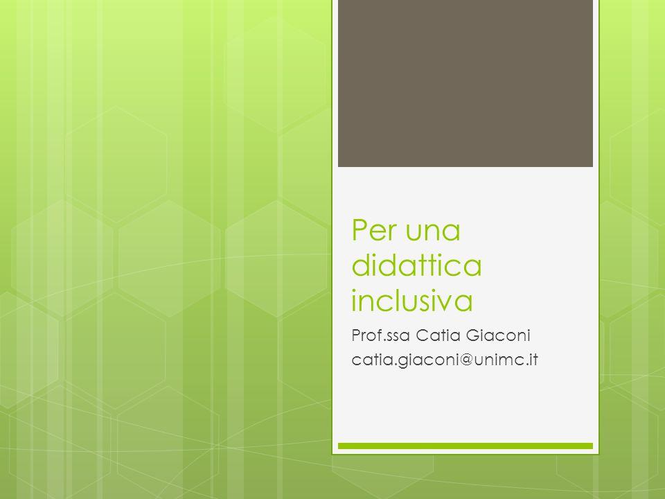 Per una didattica inclusiva