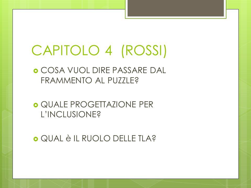 CAPITOLO 4 (ROSSI) COSA VUOL DIRE PASSARE DAL FRAMMENTO AL PUZZLE