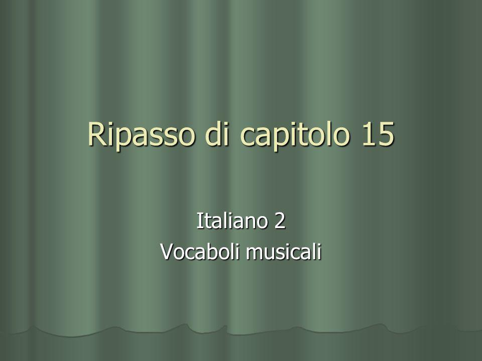 Italiano 2 Vocaboli musicali