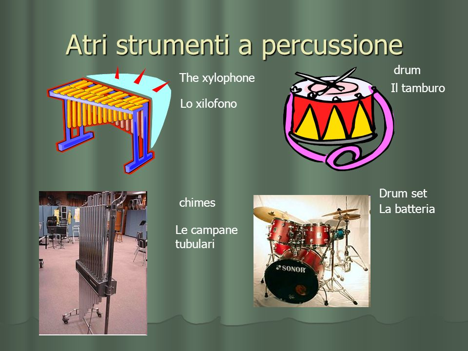 Atri strumenti a percussione