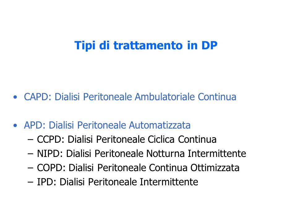 Tipi di trattamento in DP