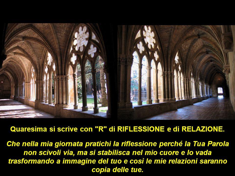 Quaresima si scrive con R di RIFLESSIONE e di RELAZIONE.