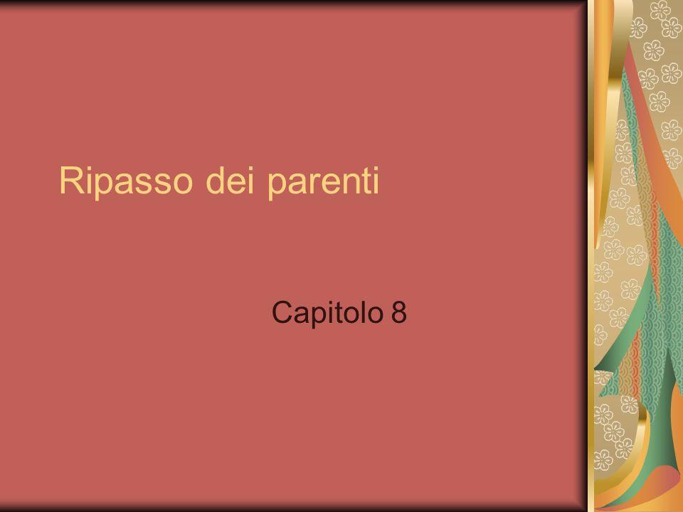 Ripasso dei parenti Capitolo 8