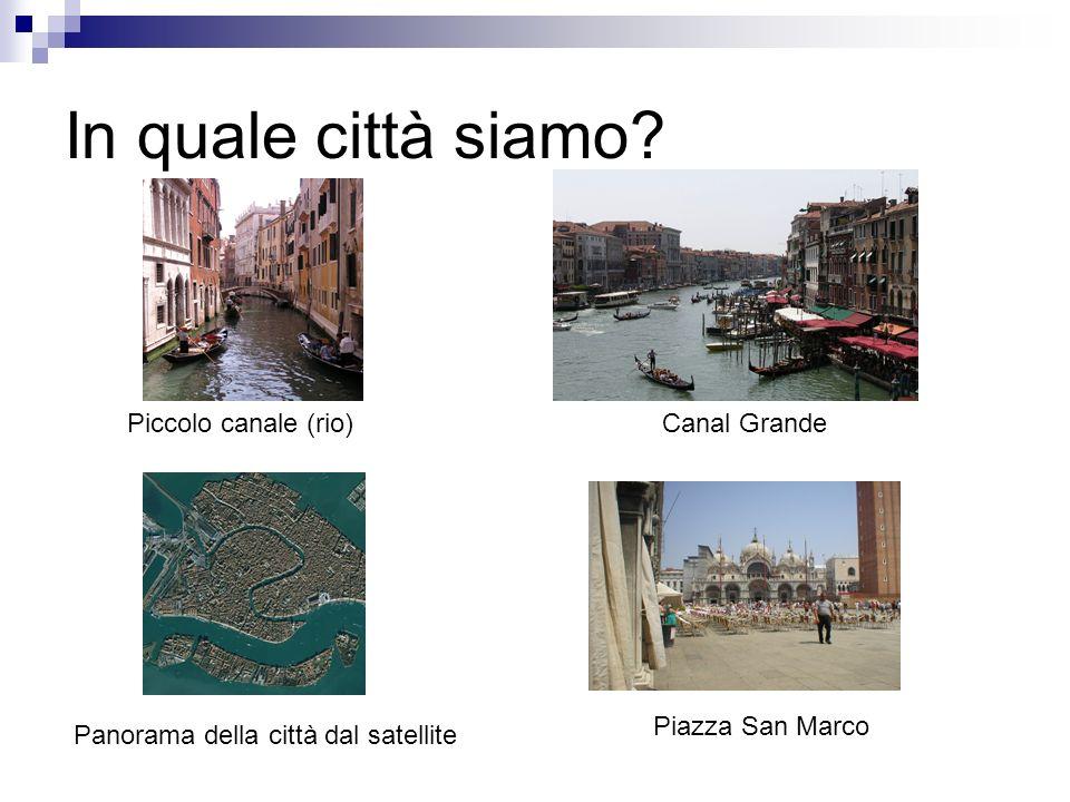 In quale città siamo Piccolo canale (rio) Canal Grande