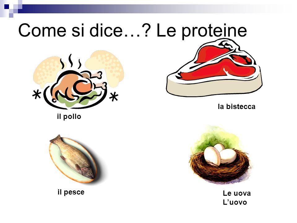 Come si dice… Le proteine