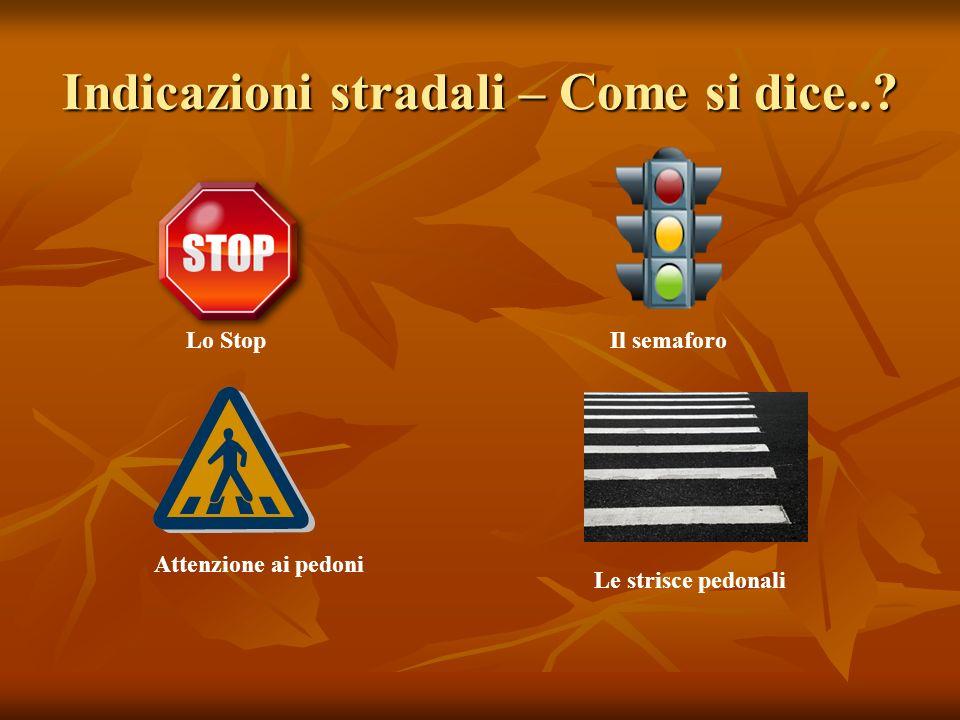 Indicazioni stradali – Come si dice..