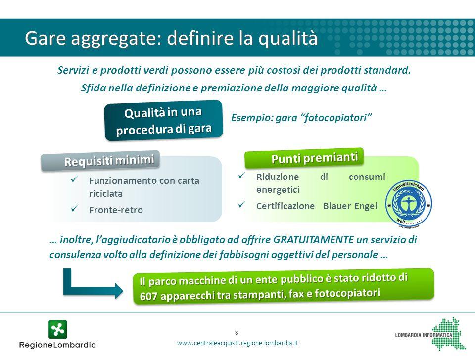 Gare aggregate: definire la qualità