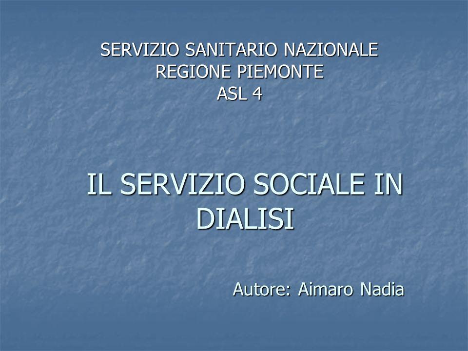 IL SERVIZIO SOCIALE IN DIALISI