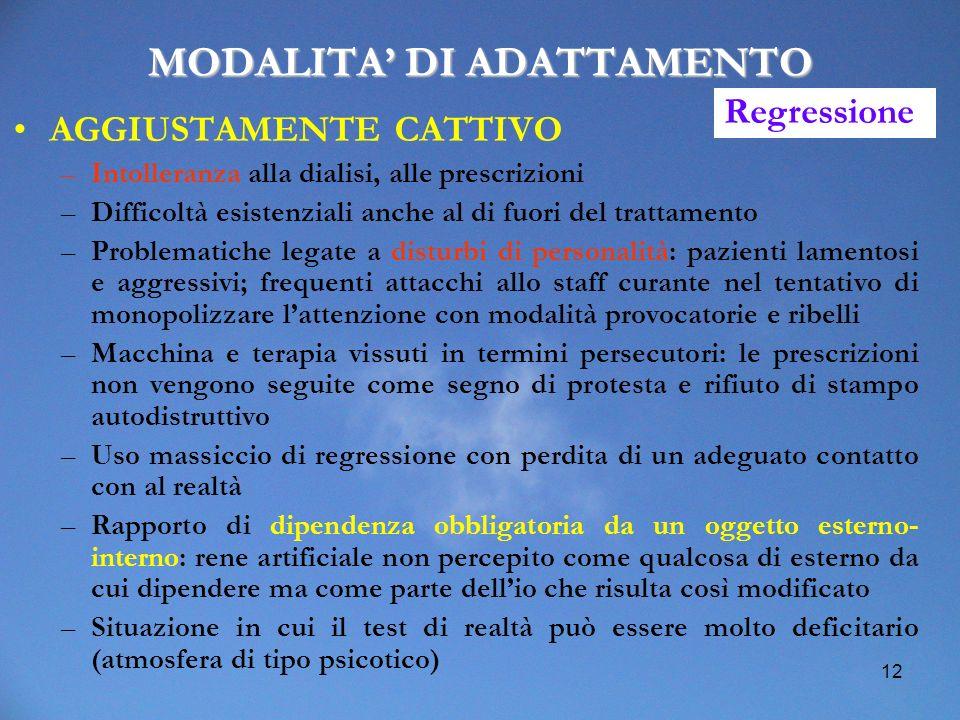 MODALITA' DI ADATTAMENTO