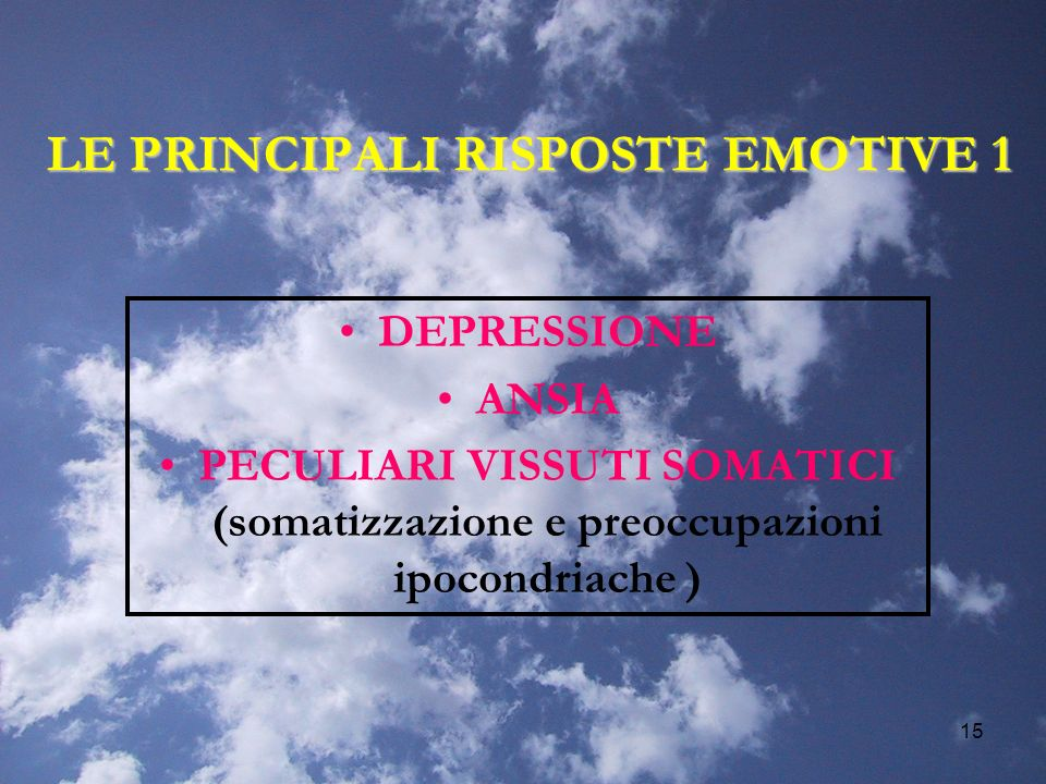 LE PRINCIPALI RISPOSTE EMOTIVE 1