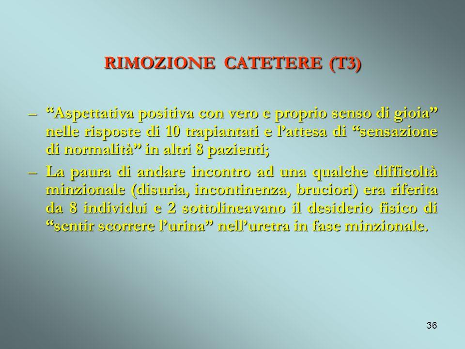 RIMOZIONE CATETERE (T3)