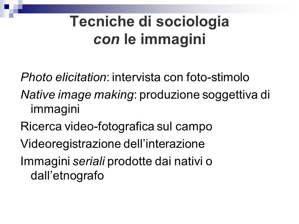 Tecniche di sociologia con le immagini