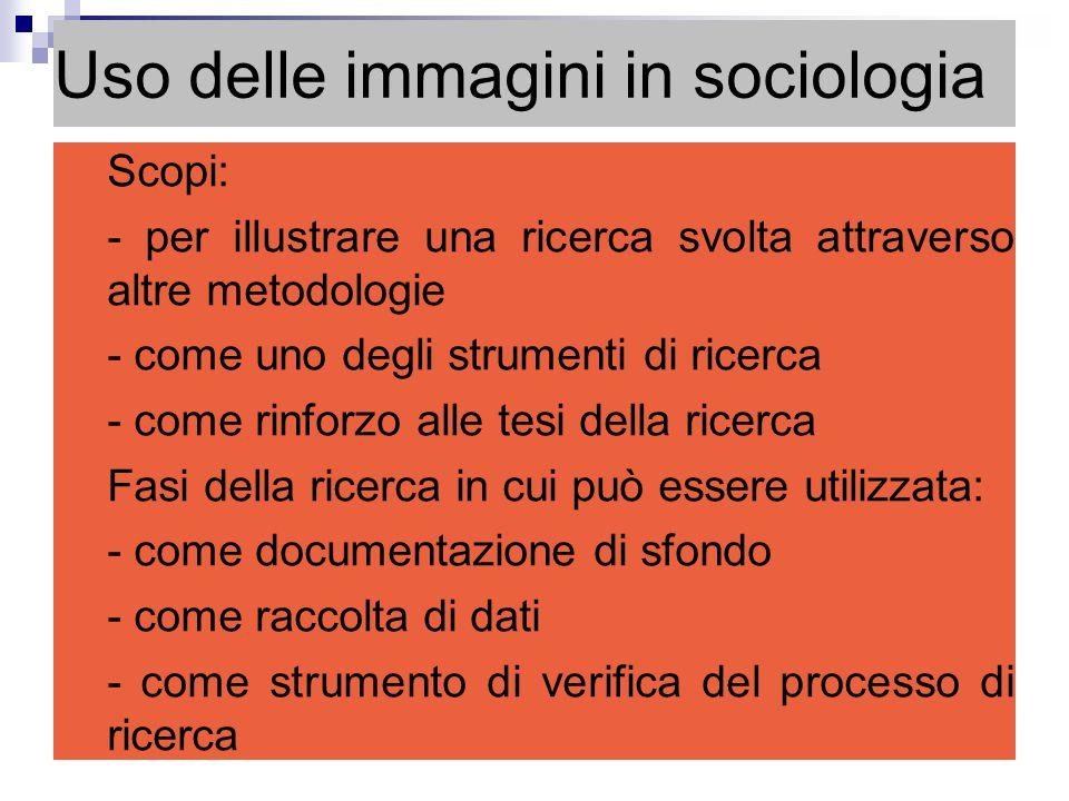 Uso delle immagini in sociologia