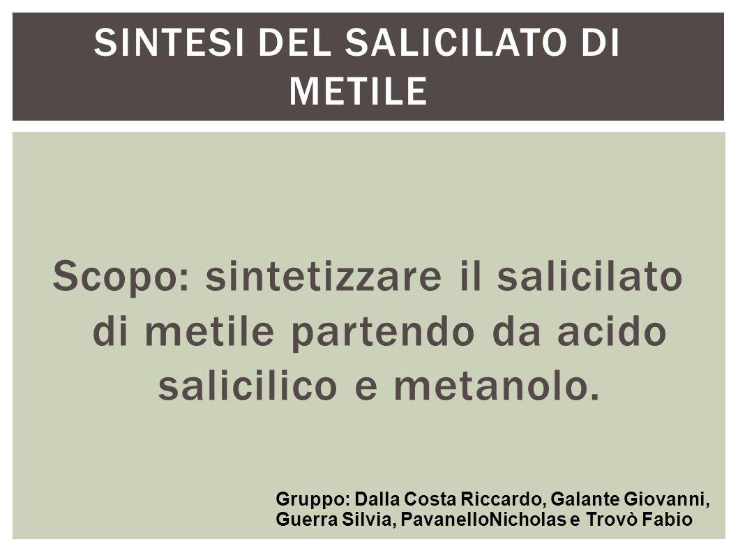 SINTESI DEL SALICILATO DI METILE