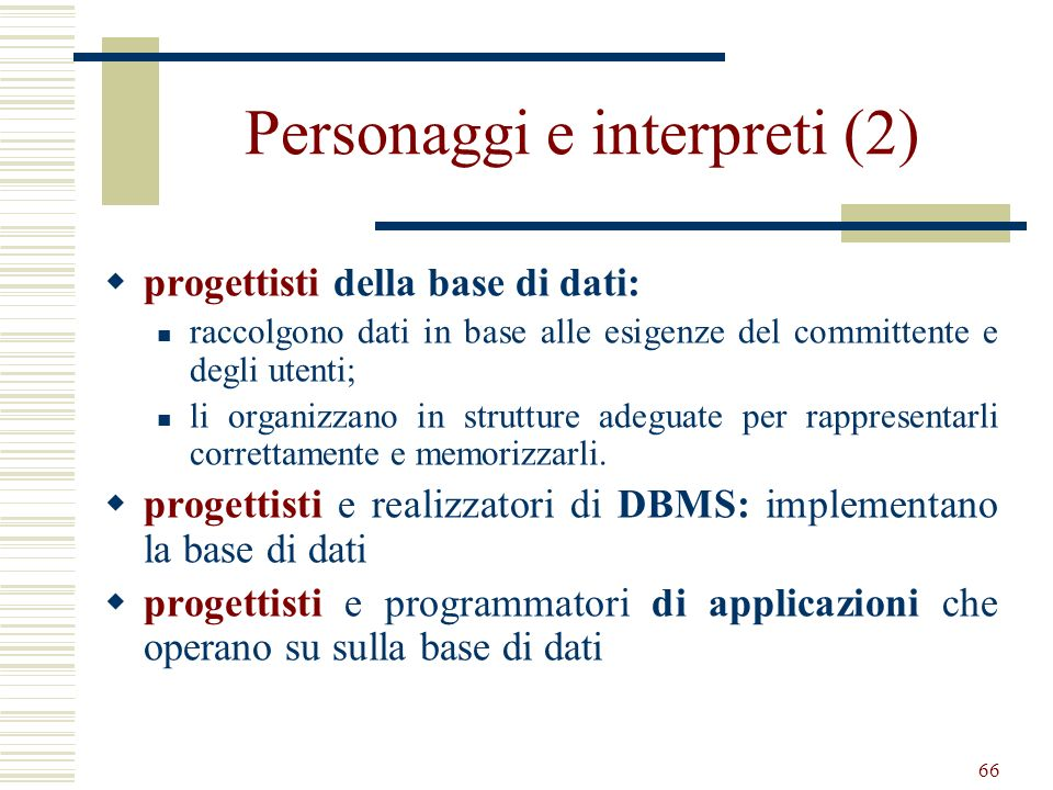 Personaggi e interpreti (2)