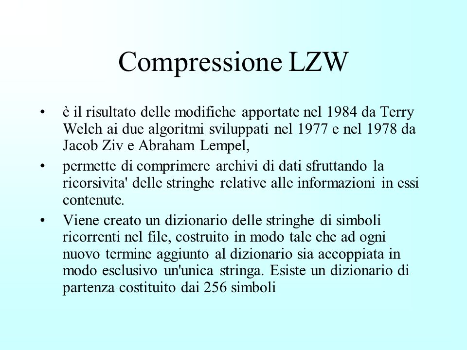 Compressione LZW