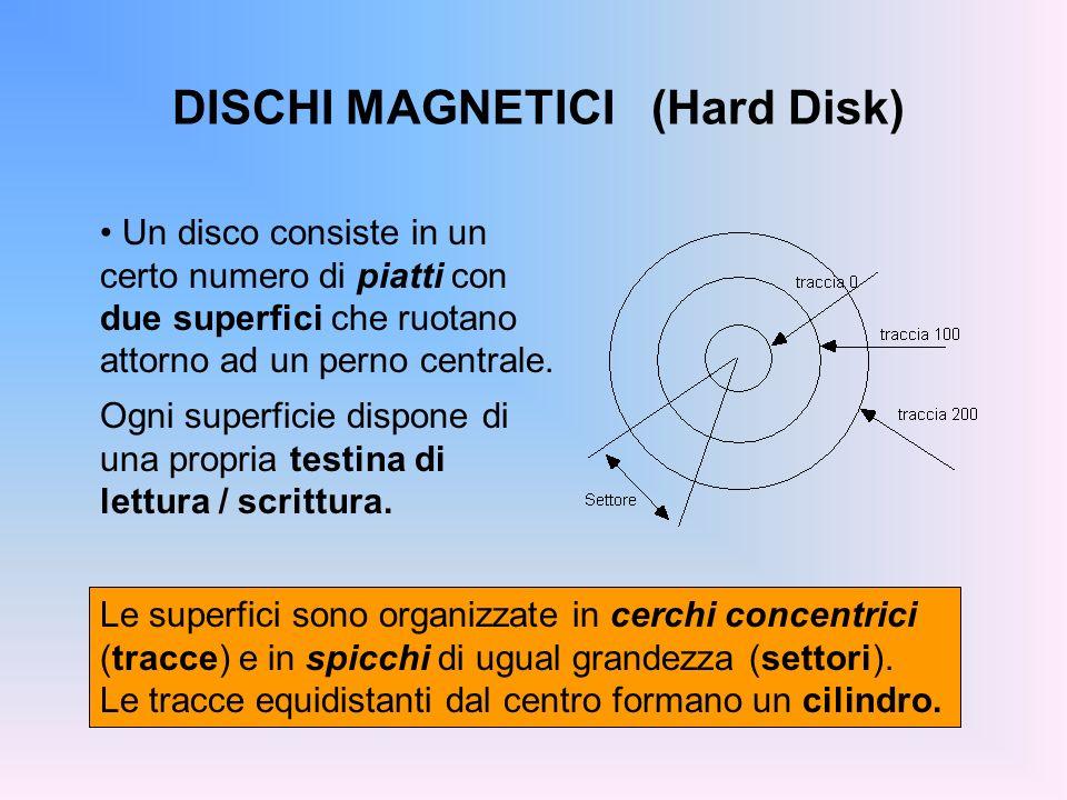DISCHI MAGNETICI (Hard Disk)