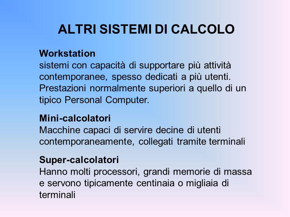 ALTRI SISTEMI DI CALCOLO