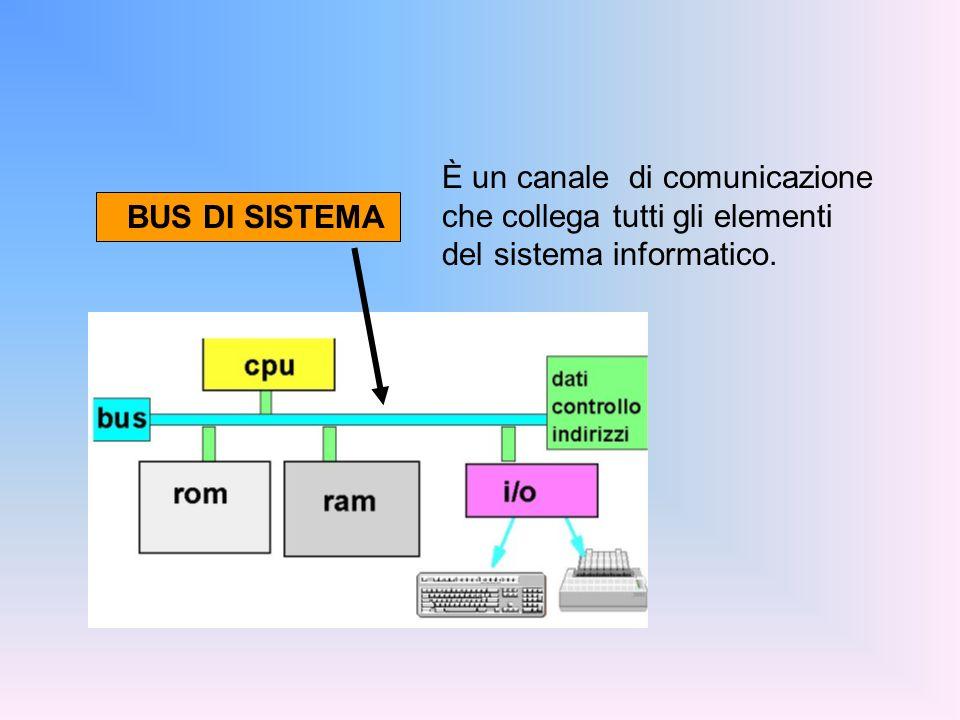 È un canale di comunicazione che collega tutti gli elementi del sistema informatico.