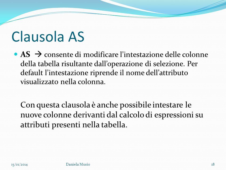 Clausola AS