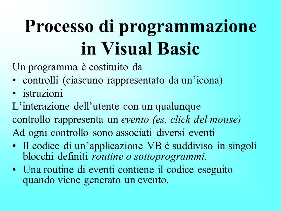 Processo di programmazione in Visual Basic