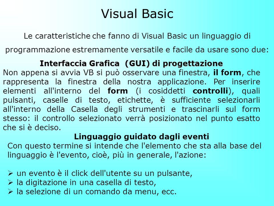 Interfaccia Grafica (GUI) di progettazione
