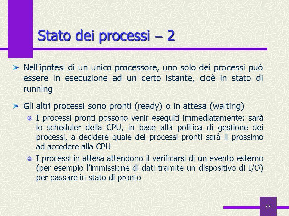Stato dei processi  2