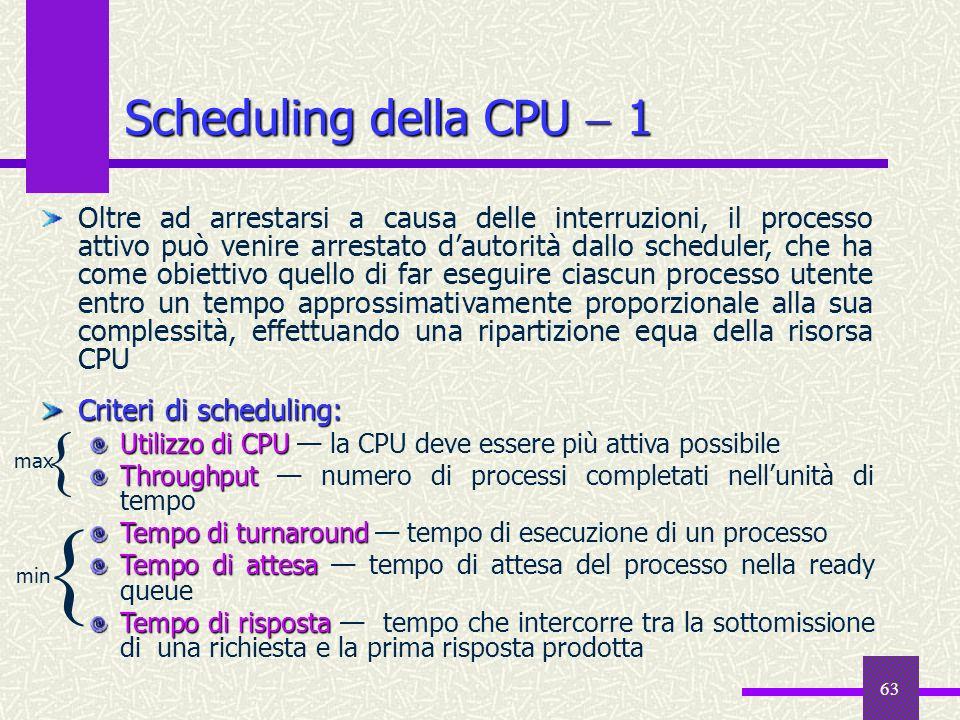 { { Scheduling della CPU  1