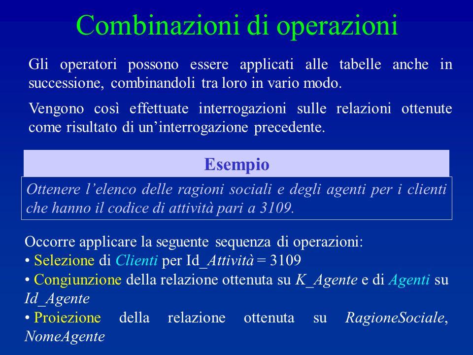 Combinazioni di operazioni