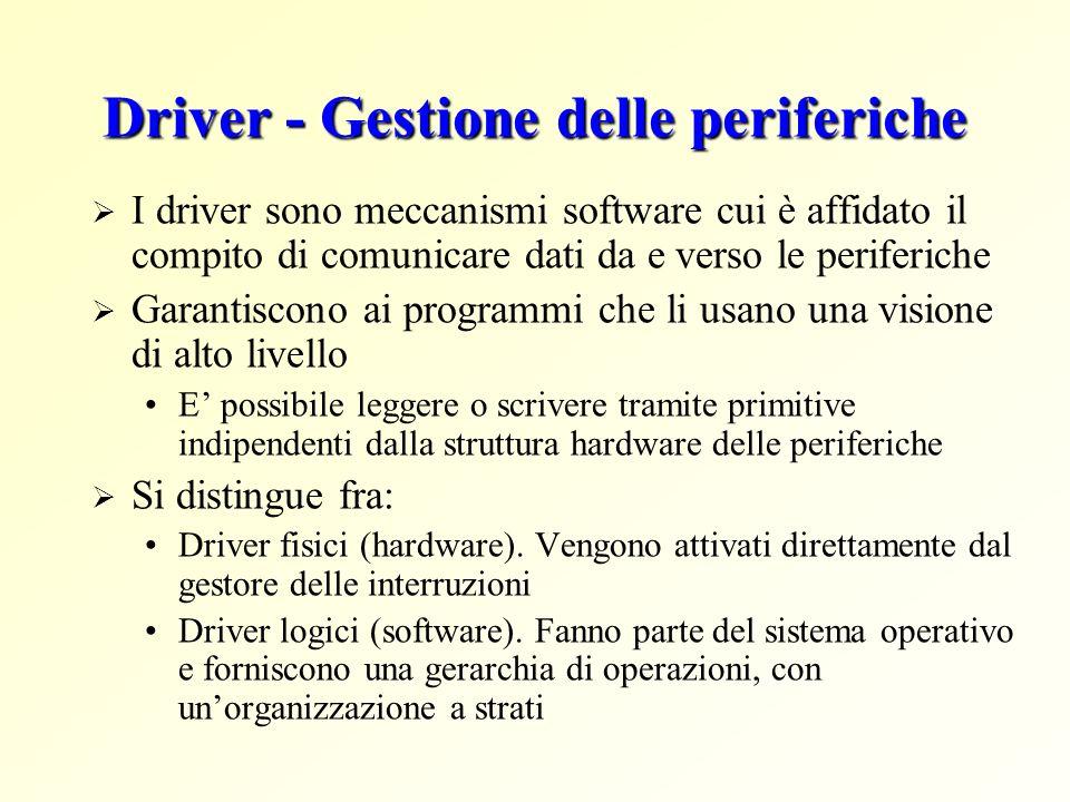 Driver - Gestione delle periferiche