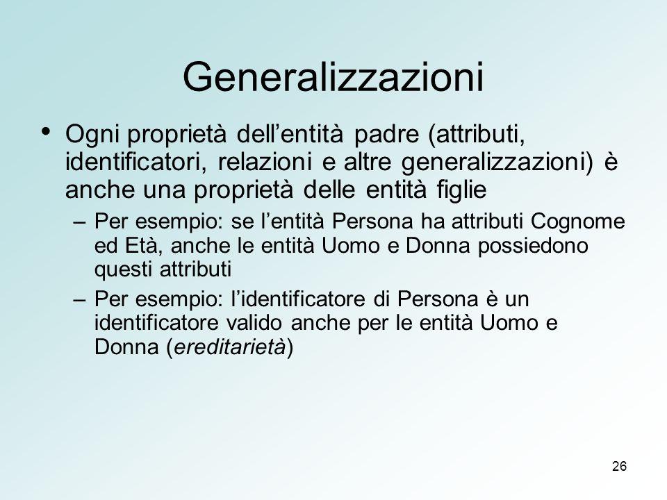 Generalizzazioni