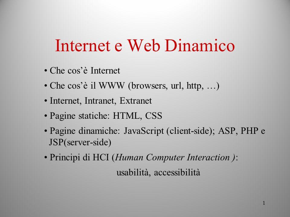 Internet e Web Dinamico
