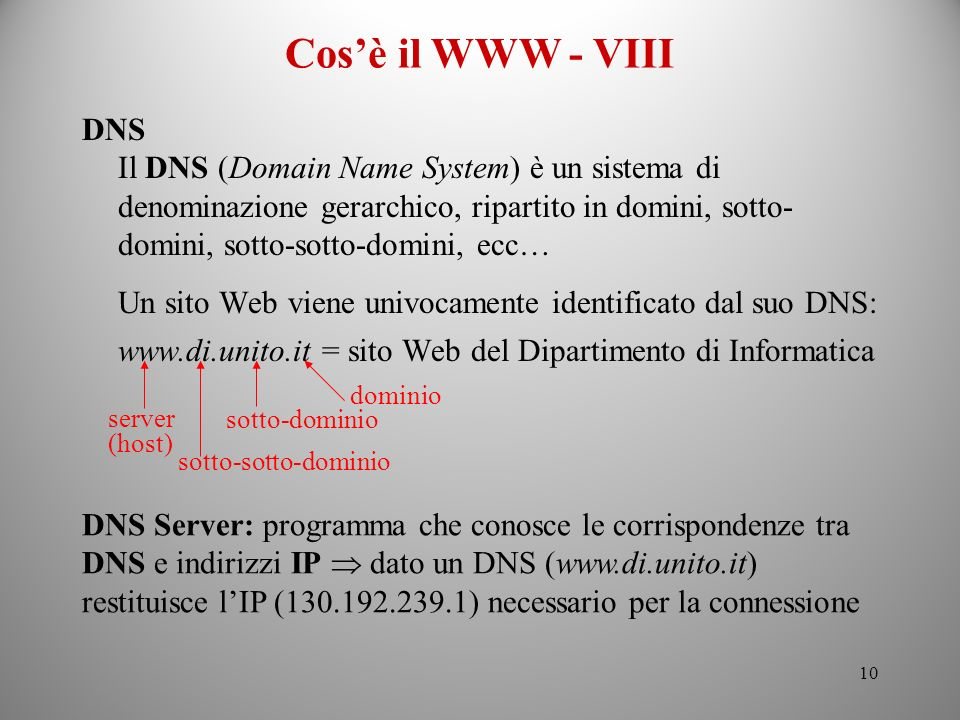 Cos'è il WWW - VIIIDNS.