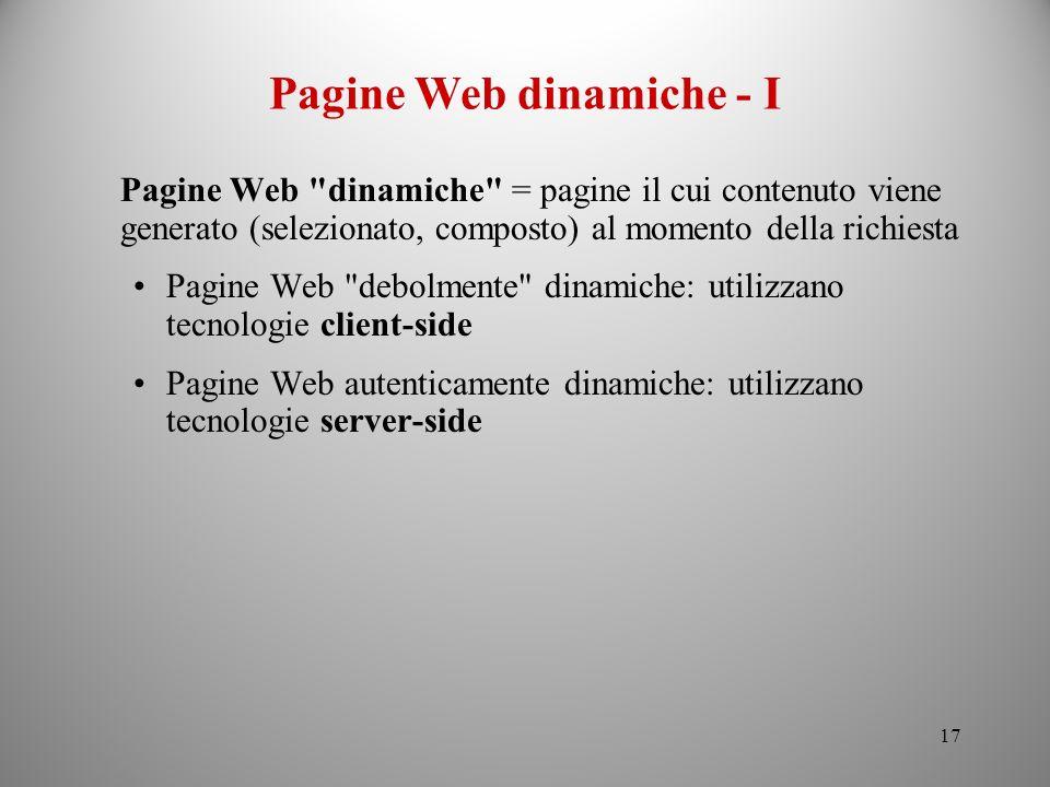 Pagine Web dinamiche - I