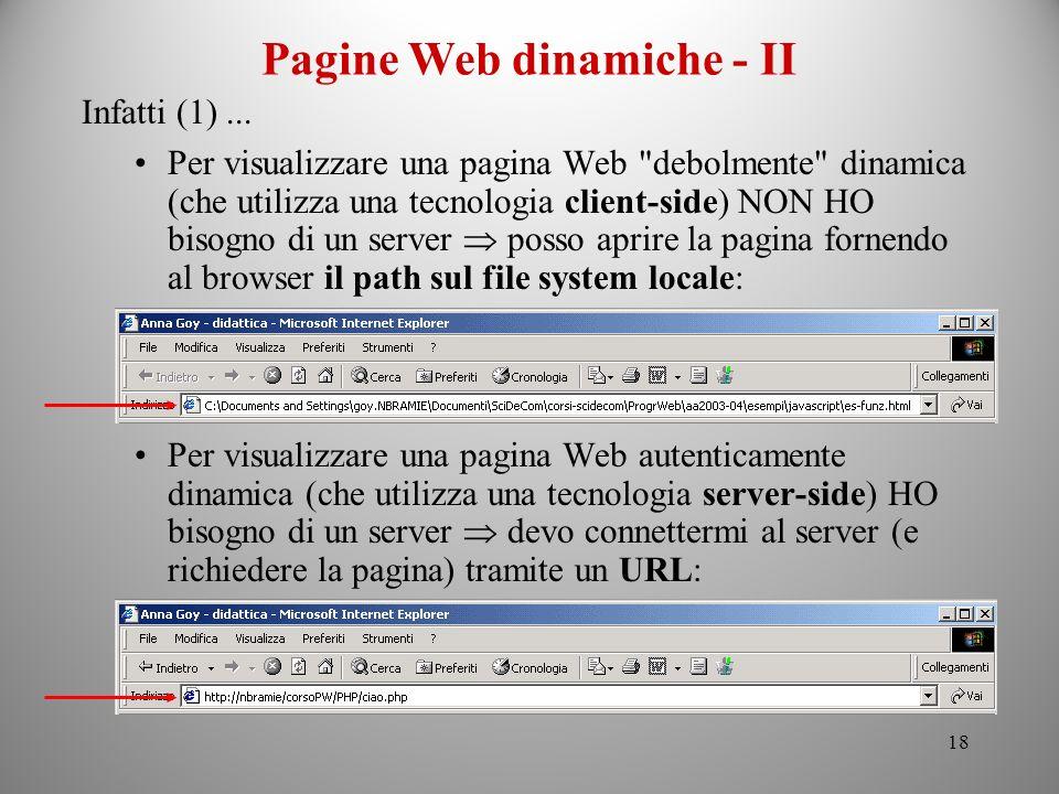 Pagine Web dinamiche - II
