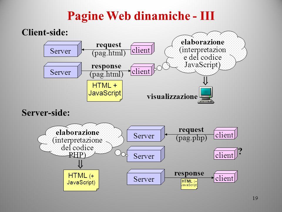 Pagine Web dinamiche - III