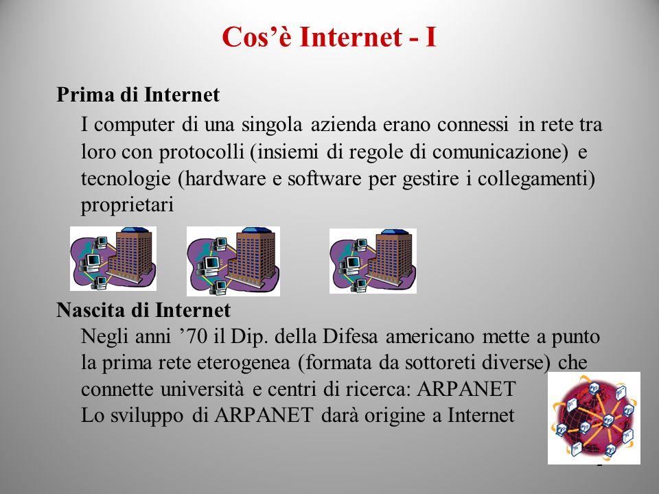 Cos'è Internet - IPrima di Internet.