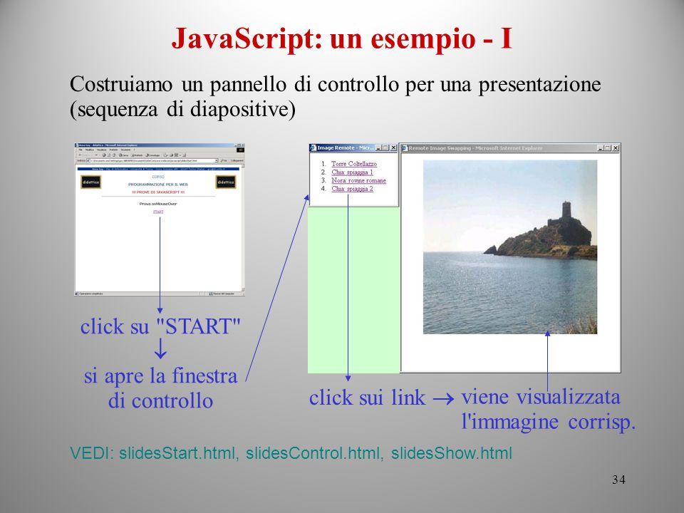 JavaScript: un esempio - I