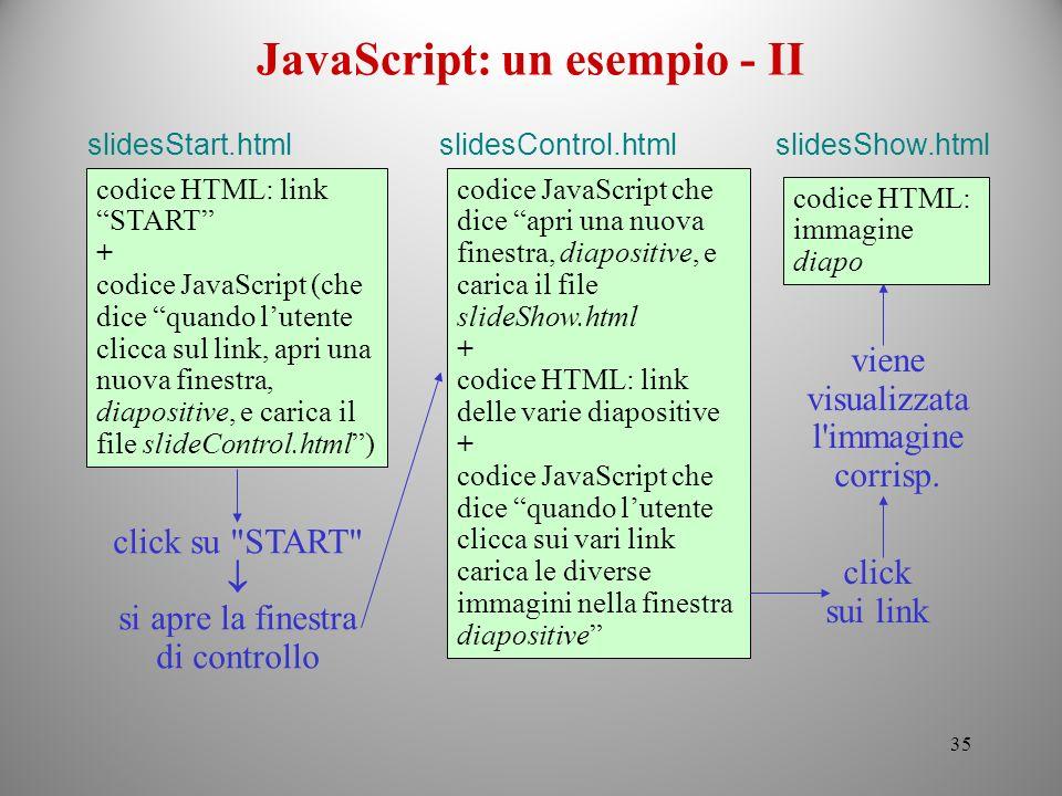 JavaScript: un esempio - II
