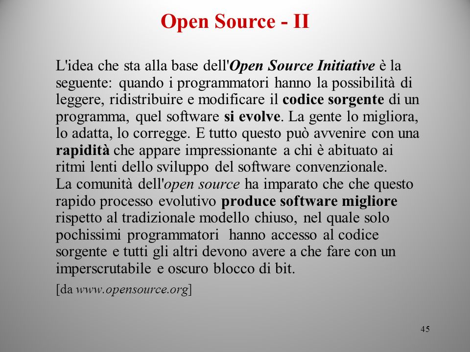 Open Source - II