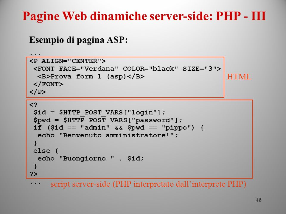 Pagine Web dinamiche server-side: PHP - III